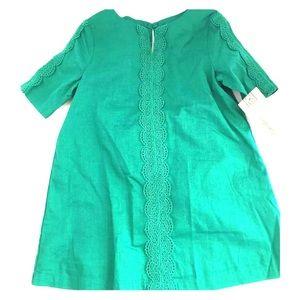 OshGosh  cotton Dress  green 18 months